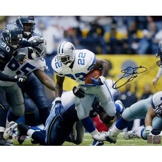 Emmitt Smith Signed Dallas Cowboys 16x20 Rushing Photo Prova+Sports Integrity