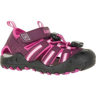 Kamik Children's Crab Closed Toe Sandal Plum Synthetic Leather