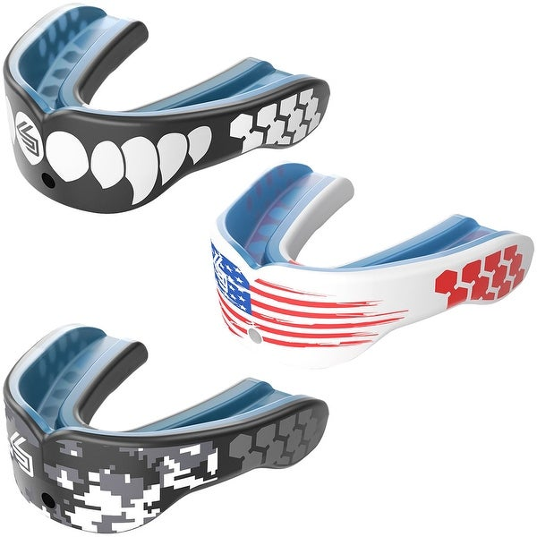 Red List @ $12 NEW Shock Doctor Gel Max Convertible Strap Mouthguard