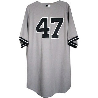 Ivan Nova Jersey  NY Yankees 2013 Season Game Used 47 Grey Jersey  0000003170 Size 50 EK676786