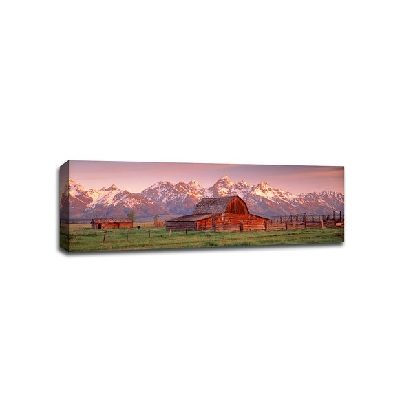 Barn in Grand Teton National Park - National Parks - 36x12 Canvas