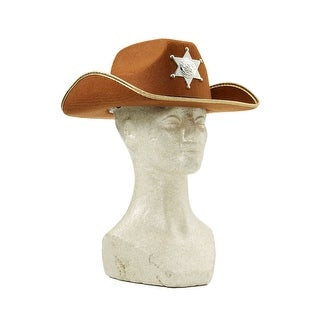 Child Brown Cowboy Hat w/ Badge