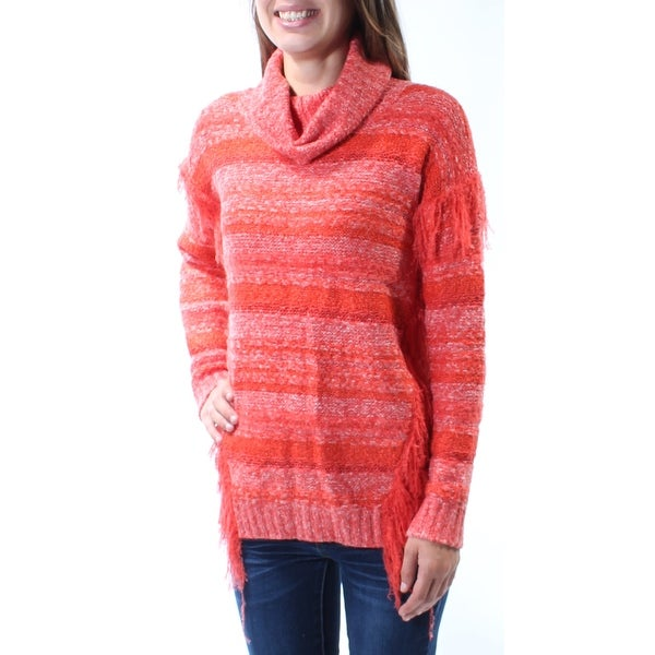 Shop Womens Orange Long Sleeve Cowl Neck Sweater Size Xs On Sale