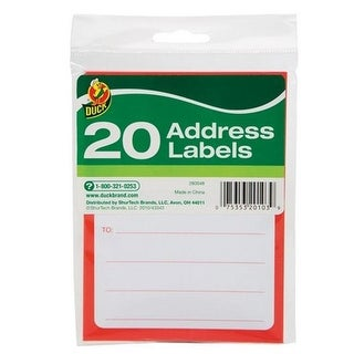 Duck 280048 Address Labels- - pack of 12