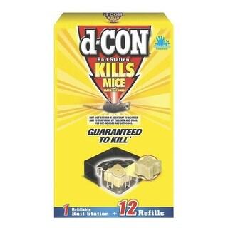 D-Con 1920089480 Mouse Bait Station, 12 Refills