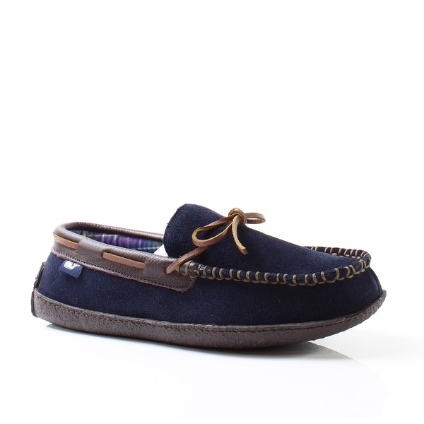 Vineyard Vines NEW Blue Men's Shoes Size 8M Lounge Suede Moccasin
