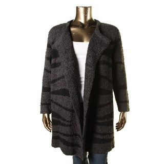 Vince Camuto Womens Plus Wool Blend Open Front Cardigan Sweater