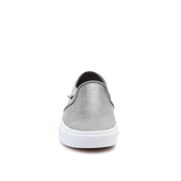 Vans Womens Asher (embossed) Round Toe Loafers, Grey, Size 10.0 - 10