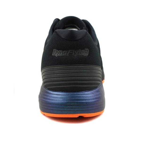 huge selection of 8d087 8a3de Shop ASICS Mens Dynaflyte 3 Lite-Show Black Running Shoes ...