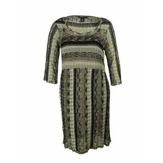 INC International Concepts Women's Zig Zag Sweater Dress - Deep Black