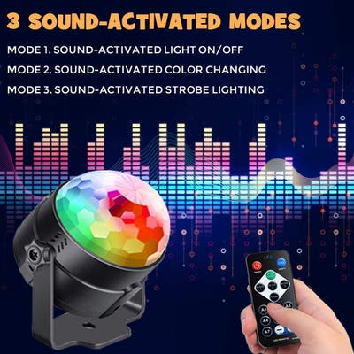 Disco Ball Party Lights -Led with Remote Control DJ Lighting