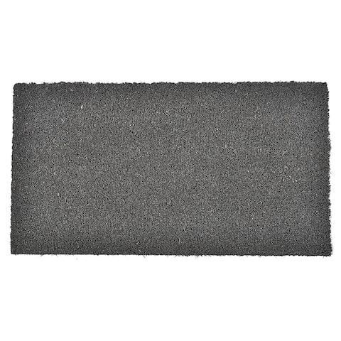 Front Door Mat Coir Coco Fibers Rug 24x13 Inch Grey - 13 W x 24 L x 5/8 H