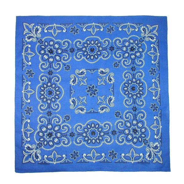 Shop CTM® 27 Inch Extra Large Cotton Texas Paisley Bandana - one ... 4fd3336518c