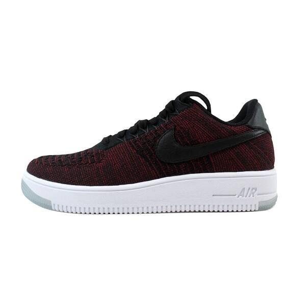 pretty nice e7748 459ed Shop Nike Women's AF1 Flyknit Low Black/Black-Team Red-Clear ...