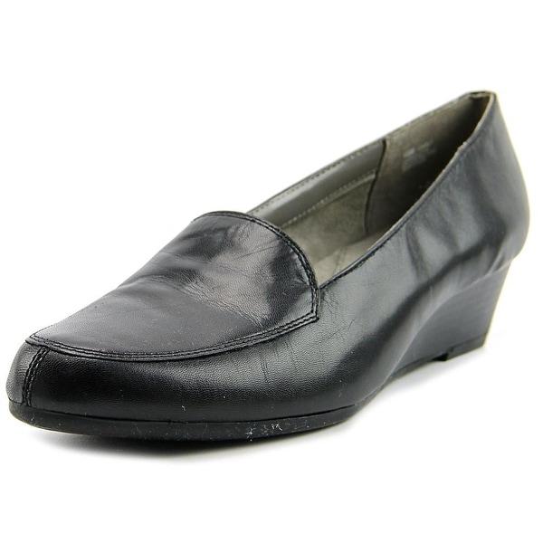 Aerosoles Lovely Women W Round Toe Leather Black Loafer