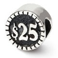 Sterling Silver Reflections 2-sided Vegas Bead (4mm Diameter Hole) - Thumbnail 0