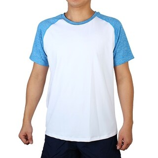Quick-drying Short Sleeve Clothes Basketball Sports T-shirt White Blue L