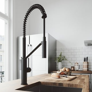 Link to VIGO Livingston Matte Black Magnetic Kitchen Faucet Similar Items in Faucets