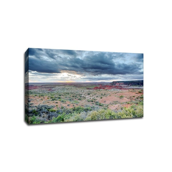 Painted Desert - Petrified Forest National Park, Arizona - Capturing America - 36x24 Gallery Wrapped Canvas Wall Art