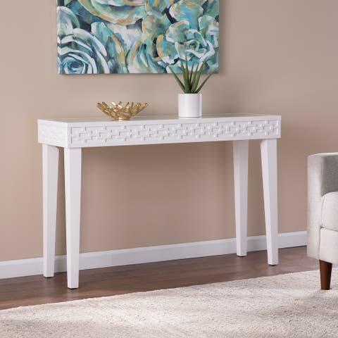 Harper Blvd Pacione Transitional White Wood Console Table