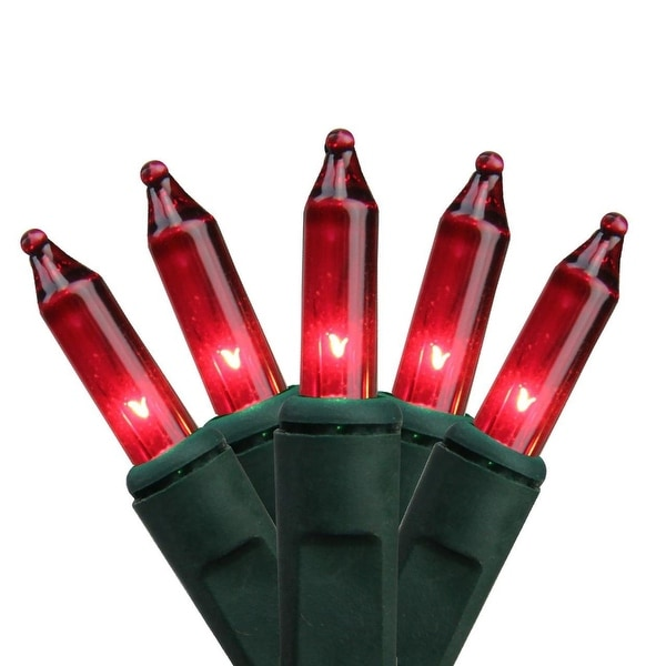 Shop Set of 10 Battery Operated Red Mini Christmas Lights ...