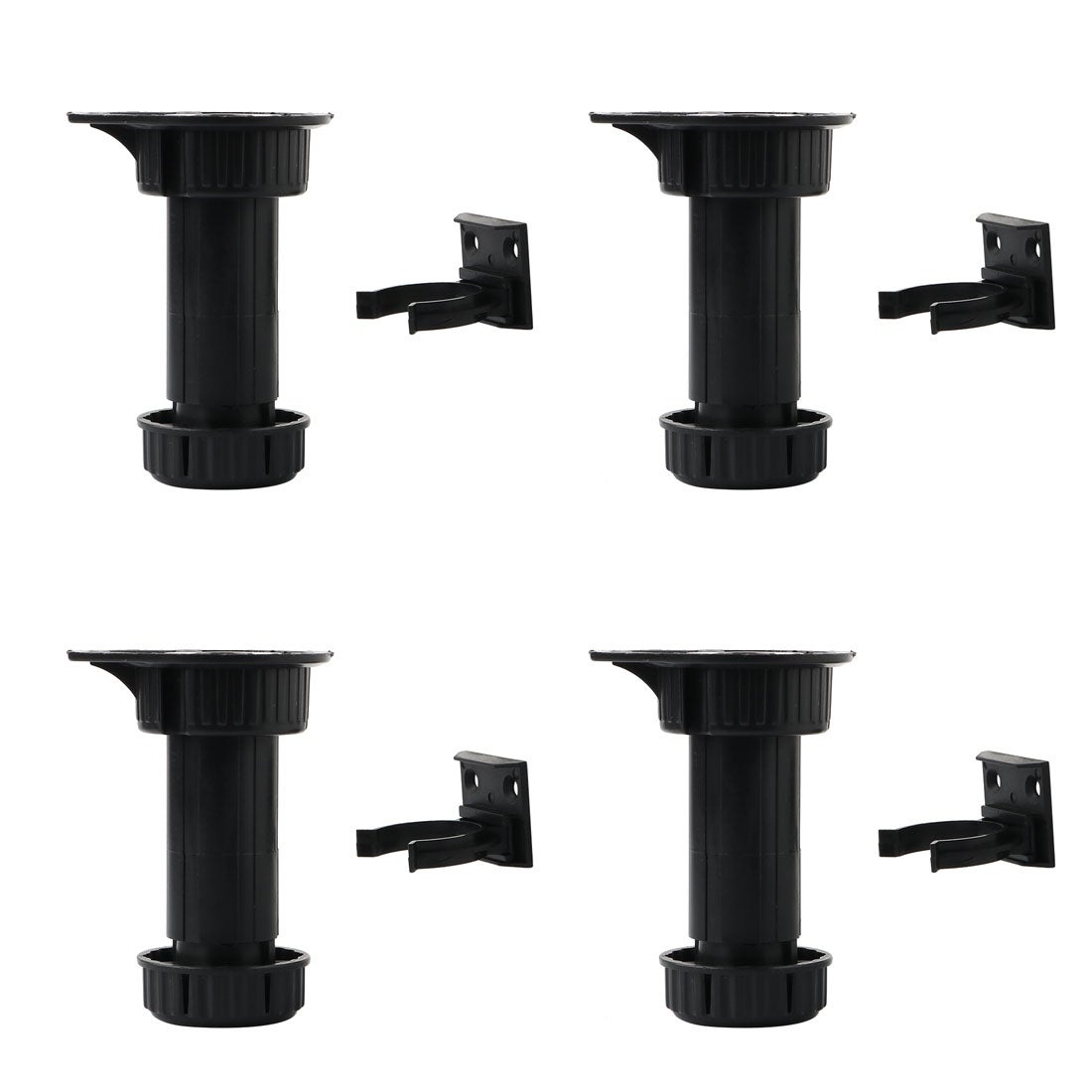4pcs PP Adjustable Kitchen Cabinet Legs Feet Height(Total:100-145mm) x 43mm  Dia
