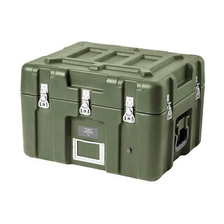 Monoprice Rotomodeled Weatherproof Case - Green (21 x 17 x 15 inches) With Customizable Foam - Pure Outdoor Collection