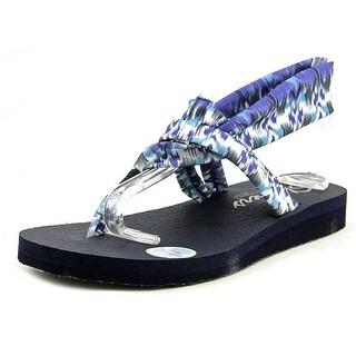 Skechers Meditation - Fruition Women  Open Toe Canvas Blue Thong Sandal