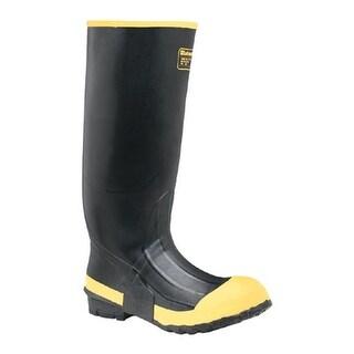 "LaCrosse Industrial Men's 16"" Premium Knee Steel Toe Boot Black/Yellow"