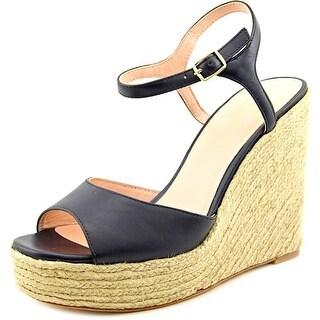 Kate Spade Dallie Women  Open Toe Leather Blue Wedge Heel