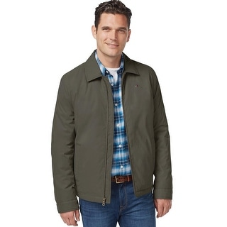 Tommy Hilfiger Full Zip Micro Twill Windbreaker Jacket Olive XX-Large