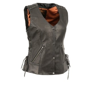 Women's Lightweight Lace to Lace Snap Front Vest (More options available)