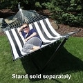 Sunnydaze 2-Person Quilted Hammock with Spreader Bars and Detachable Pillow - Thumbnail 35