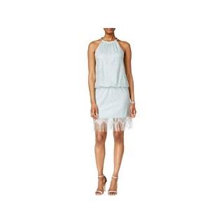 SLNY Womens Casual Dress Above Knee Crochet