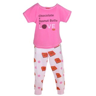 Reeses Girl's Peanut Butter and Chocolate Pajama Set