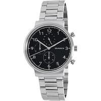 Skagen Men's Ancher  Silver Stainless-Steel Quartz Dress Watch