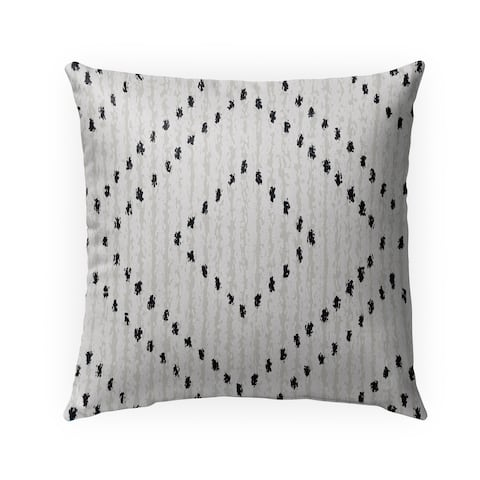 PARSON WHITE & BLACK Indoor-Outdoor Pillow By Kavka Designs