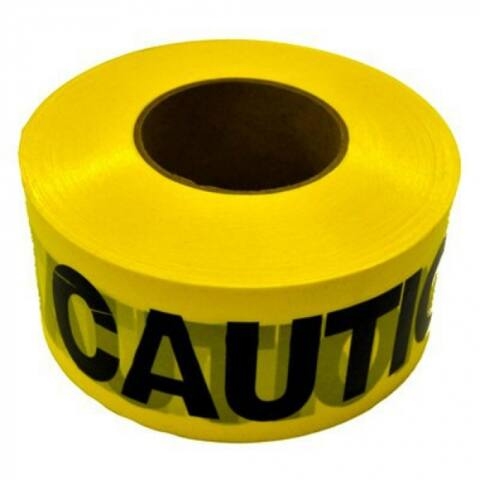 CH Hanson 19000 Weatherproof Caution Tape, 1000', Yellow