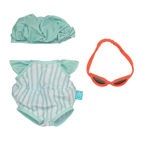 """Baby Stella Pool Party Baby Doll Clothes for 15"""" Dolls"""