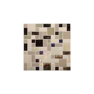 Daltile CKBLRANDP Coastal Keystones - Block Random Mosaic Multi-Surface Tile - Polished Varied Visual