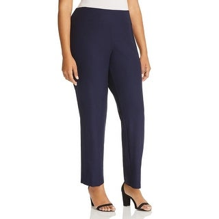 Eileen Fisher Womens Plus Ankle Pants Crepe Washable