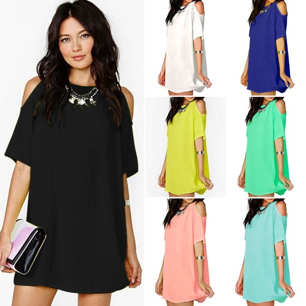 bf0ae97152d Shop Womens Plus Size Chiffon Baggy Mini Top - Free Shipping On ...