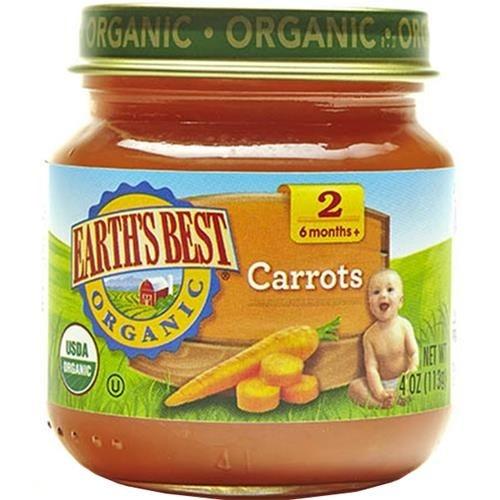 Earth's Best - Organic Carrots ( 12 - 4 OZ)