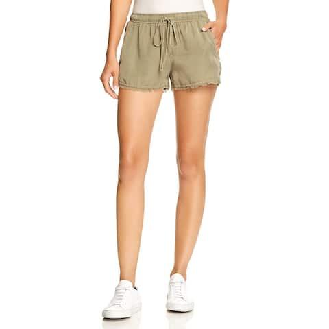 Bella Dahl Womens Casual Shorts Linen Frayed Hem - L