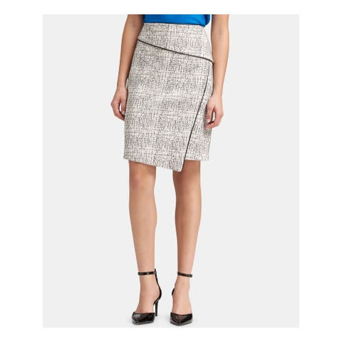 DKNY Ivory Above The Knee Pencil Skirt Size 4