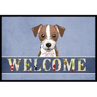 Carolines Treasures BB1388MAT Jack Russell Terrier Welcome Indoor & Outdoor Mat 18 x 27 in.