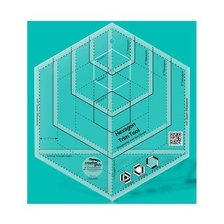 """Link to Creative Grids Hexagon Trim Tool Quilt Ruler - 0.25"""" x 8"""" x 8"""" Similar Items in Sewing & Quilting"""