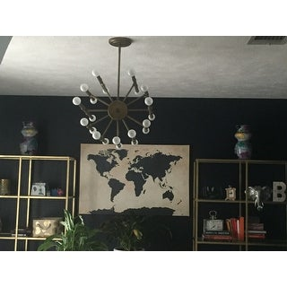 Bali Goldtone 22-light Chandelier