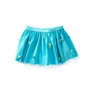 Azul Girls Aqua Bibbidi Bobbidi Boo Rosette Embellished Skirt