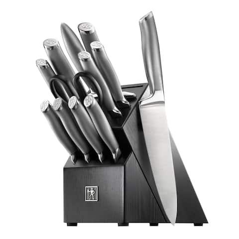 J.A. Henckels International Modernist 13-pc Knife Block Set - Stainless Steel